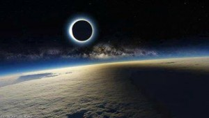 Eclypse from space 11032013